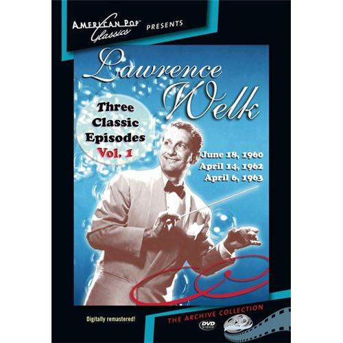 3 Classic Episodes Of The Lawrence Welk Show DVD Movie 1960, 1962, 1963