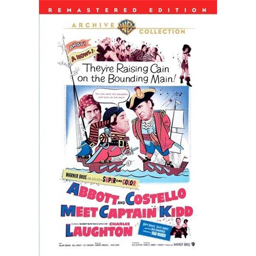 Abbott And Costello Meet Captain Kidd (Remaster) DVD Movie 1952 - Kids and Family Movies and DVDs
