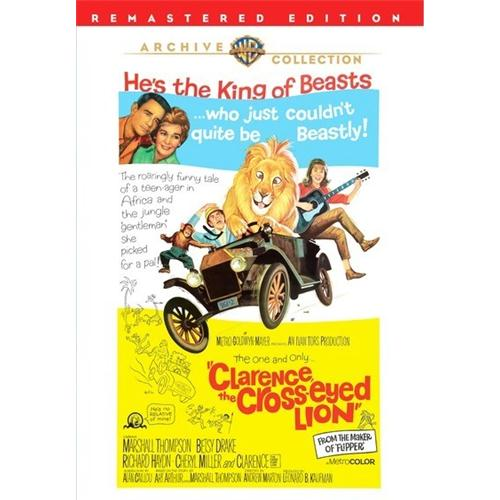 Clarence, The Cross-Eyed Lion DVD Movie 1965 883316367032