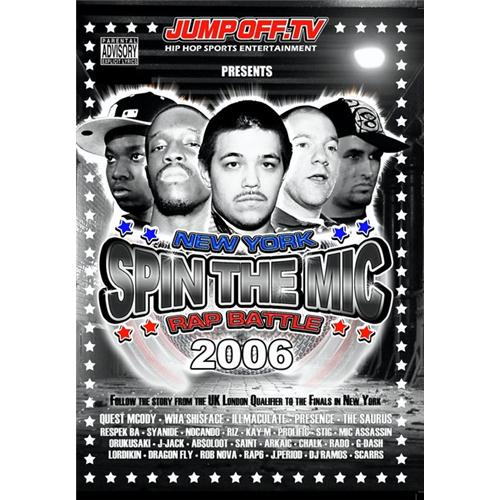 Spin The Mic: New York Rap Battle 2006 Disc 1single Dvd DVD Movie 2006 - Music Video and Concerts Movies and DVDs