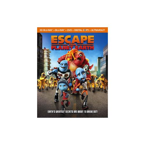 ESCAPE FROM PLANET EARTH (BLU-RAY/DVD COMBO/3-D/UV/DC/WS/2013/4 DISC) (3-D) 13132474991