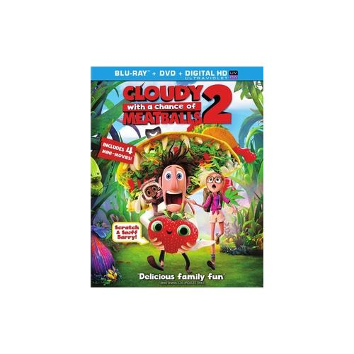 CLOUDY WITH A CHANCE OF MEATBALLS 2 (BLU-RAY/DVD COMBO/ULTRAVIOLET) 43396425071