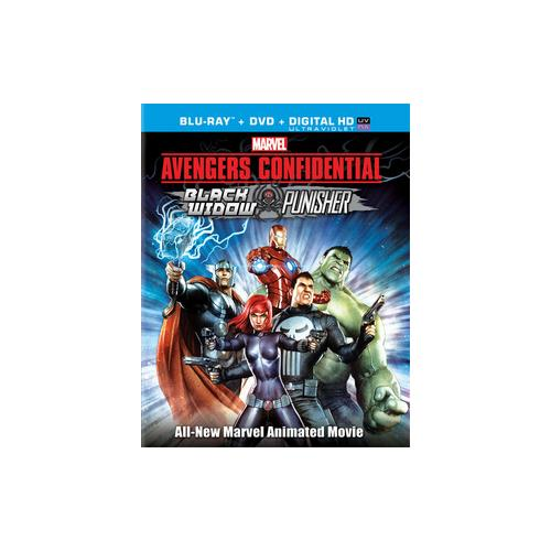 AVENGERS CONFIDENTIAL-BLACK WIDOW & PUNISHER (BLU-RAY/DVD/ULTRAVIOLET COMBO 43396429437