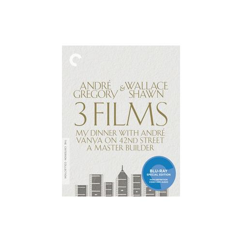 ANDRE GREGORY & WALLACE SHAWN-THREE FILMS (BLU-RAY/3 DISCS) 715515148719