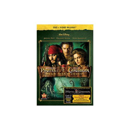 PIRATES OF THE CARIBBEAN DEAD MANS CHEST (BR/DVD/3 DISC COMBO) 786936815467