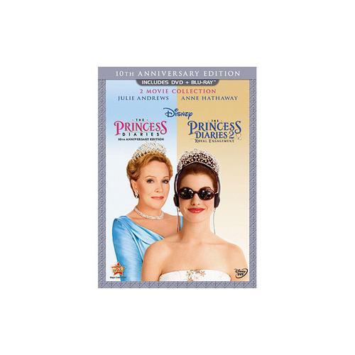 PRINCESS DIARIES-10TH ANNIVERSARY (DVD/BLU-RAY/3 DISC/2PK) DVD PKG 786936823400