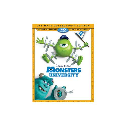 MONSTERS UNIVERSITY (BLU-RAY/3D/DVD/DC/4 DISC/UCE) (3-D) 786936836219