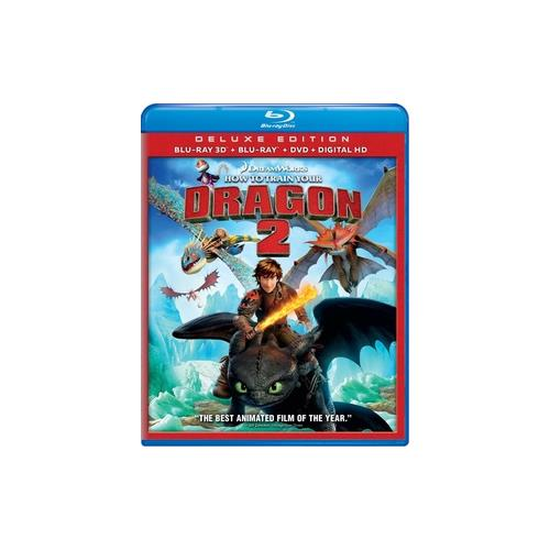 HOW TO TRAIN YOUR DRAGON 2 (BLU-RAY/3D/2D/DVD/DHD/3 DISC) (3-D) 24543915362