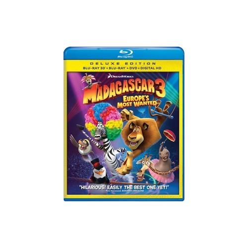 MADAGASCAR 3-EUROPES MOST WANTED (BLU RAY/3D/DVD/DC/3 DISC COMBO) (3-D) 97361476643