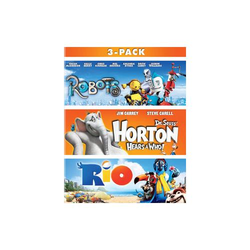 ROBOTS/HORTON HEARS A WHO/RIO (BLU-RAY/3PK) 24543892526