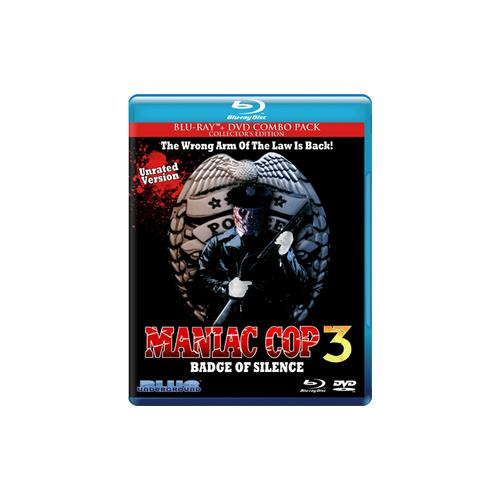 MANIAC COP 3-BADGE OF SILENCE BLU RAY/DVD COMBO PACK (2DISCS/ENG W/ENG SDH/ 827058704496