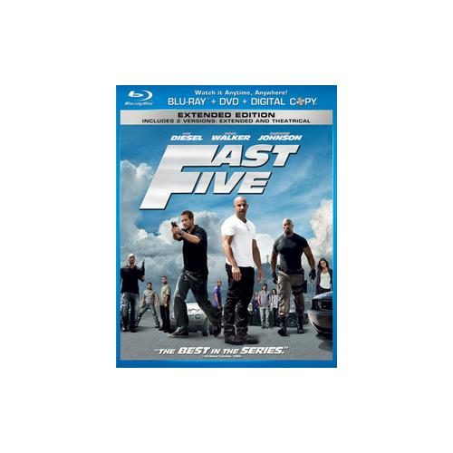 FAST FIVE  BLU RAY/DVD/DC COMBO PACK (ENG SDH/SPAN/FREN/WS/2DISCS) 25192107191