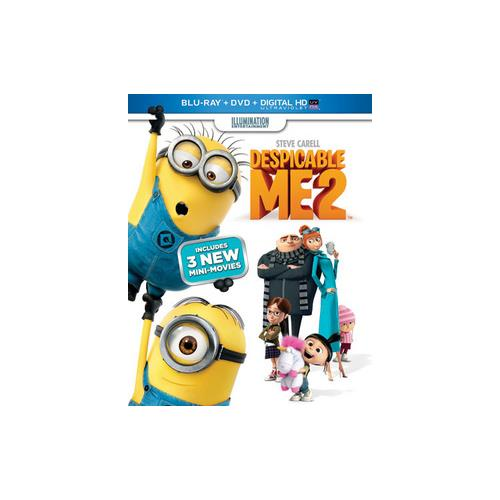 DESPICABLE ME 2 BLU RAY/DVD W/DIGITAL HD W/ULTRAVIOLET/2DISCS 25192123634