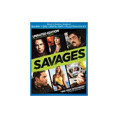 SAVAGES (BLU RAY/DVD COMBO W/DIGITAL COPY) 25192123702