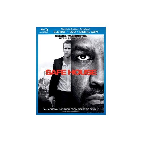 SAFE HOUSE BLU RAY/DVD COMBO W/DIGITAL COPY 25192124716