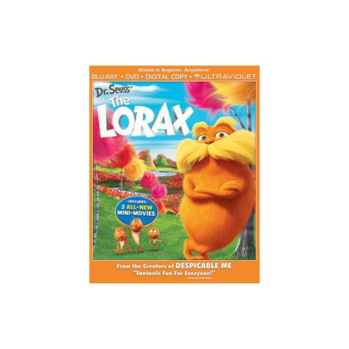LORAX BLU RAY/DVD COMBO W/DIGITAL COPY 25192126468