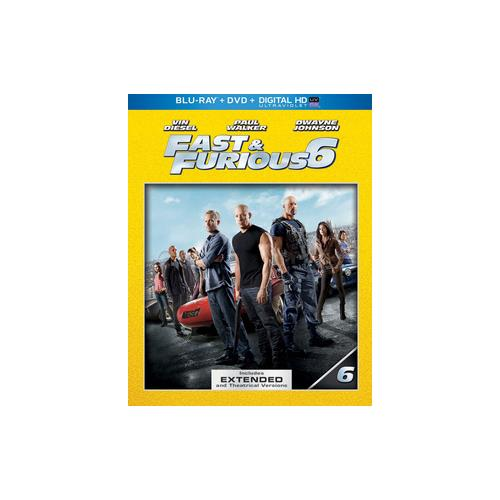 FAST & FURIOUS 6 (BLU RAY/DVD W/DIGITAL HD W/ULTRAVIOLET) 25192170911