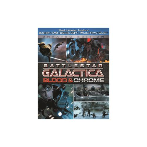 BATTLESTAR GALACTICA-BLOOD & CHROME (BLU RAY/DVD W/DIGITAL COPY/ULTRAVIOLET 25192174865