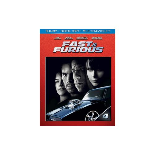 FAST & FURIOUS (2009) (BLU RAY W/DIGITAL COPY/ULTRAVIOLET) 25192185380