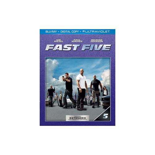 FAST FIVE (BLU RAY W/DIGITAL COPY/ULTRAVIOLET) 25192185632