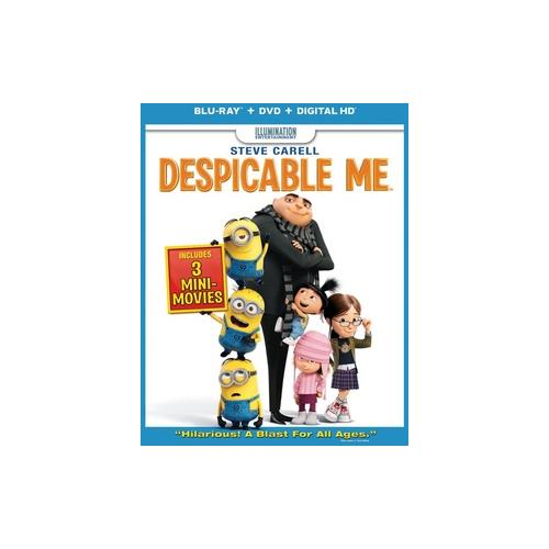 DESPICABLE ME BLU RAY/DVD W/DIGITAL COPY/ULTRAVIOLET 25192191695