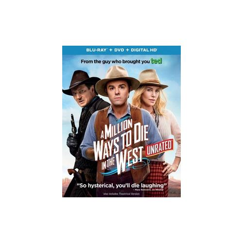 MILLION WAYS TO DIE IN THE WEST (BLU RAY/DVD W/DIGITAL HD/ULTRAVIOLET) 25192212765