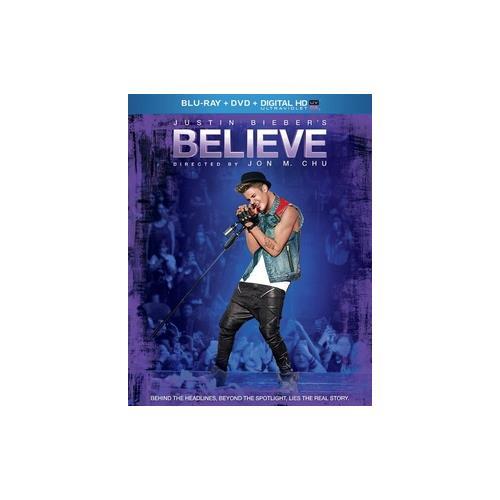 JUSTIN BIEBERS BELIEVE (BLU RAY/DVD/DIGITAL HD/ULTRAVIOLET) 25192230745
