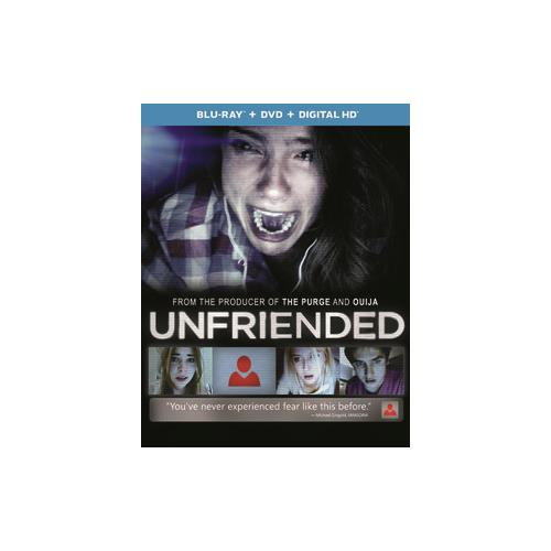 UNFRIENDED (BLU RAY/DVD W/DIGITAL HD W/ULTRAVIOLET) 25192287398
