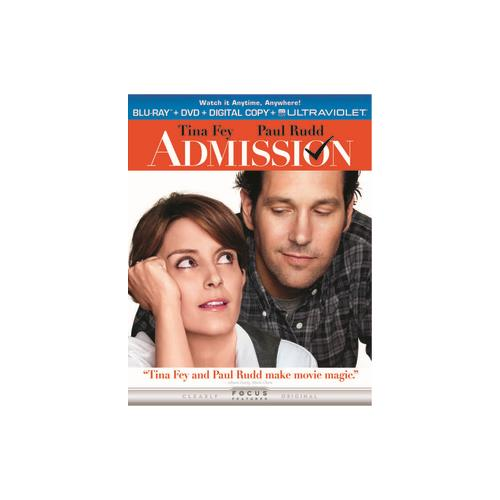ADMISSION BLU RAY/DVD COMBO PACK W/DIGITAL COPY/UV/2DISCS) 25192165283