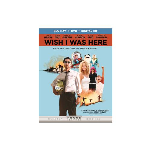 WISH I WAS HERE (BLU RAY/DVD W/DIGITAL HD/ULTRAVIOLET) (2DISCS) 25192249068