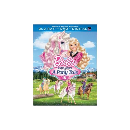 BARBIE & HER SISTERS IN A PONY TALE BLU RAY/DVD COMBO W/DIG COPY/UV/2DISCS) 25192169007