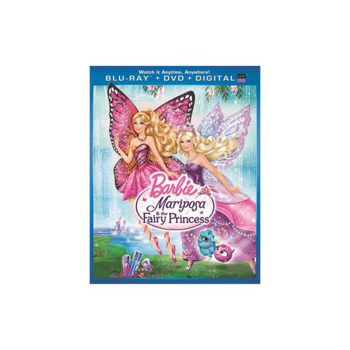 BARBIE MARIPOSA & THE FAIRY PRINCESS BLU RAY/DVD COMBO W/DIGITAL COPY/UV 25192171505