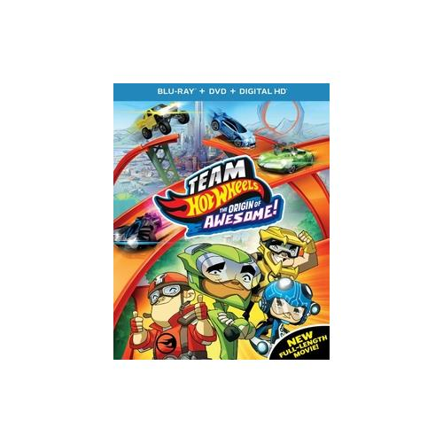 TEAM HOT WHEELS-ORIGIN OF AWESOME (BLU RAY/DVD W/DIGITAL HD/ULTRAVIOLET) 25192240287