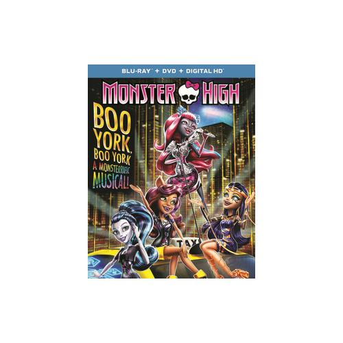 MONSTER HIGH-BOO YORK BOO YORK (BLU RAY/DVD COMBO W/DIGITAL HD/ULTRAVIOLET) 25192273209