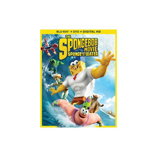 SPONGEBOB MOVIE-SPONGE OUT OF WATER (BLU RAY/DVD W/DIGITAL HD COMBO) 32429217318