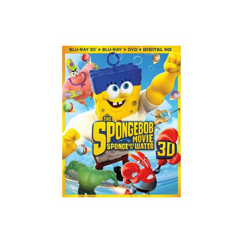 SPONGEBOB MOVIE-SPONGE OUT OF WATER (BLU RAY/DVD/3D/DIGITAL HD) (3-D) 32429217332