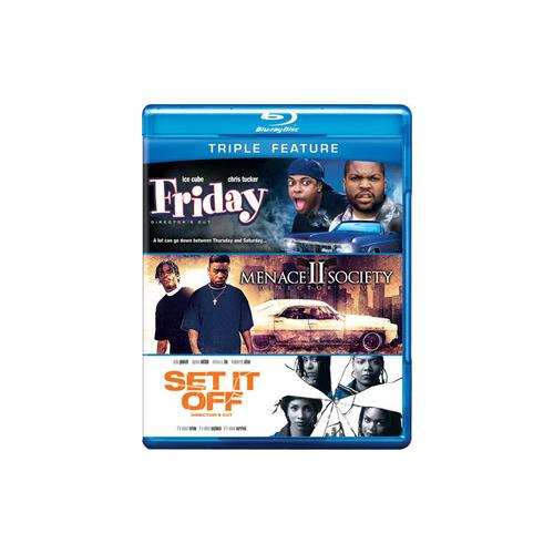 FRIDAY/MENACE II SOCIETY/SET IT OFF (BLU-RAY/3 DISC/TFE) 883929230006
