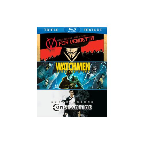 V FOR VENDETTA/WATCHMEN/CONSTATINE (BLU-RAY/TFE/4 DISC) 883929231553