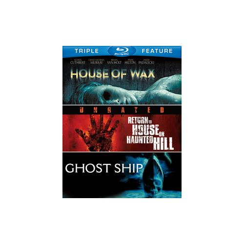 HOUSE OF WAX/RETURN TO HOUSE ON HAUNTED HILL/GHOST SHIP (BLU-RAY/TFE) 883929268153