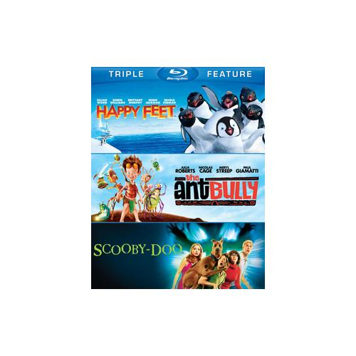 HAPPY FEET/ANT BULLY/SCOOBY-DOO-MOVIE (BLU-RAY/TFE/3 DISC) 883929298716