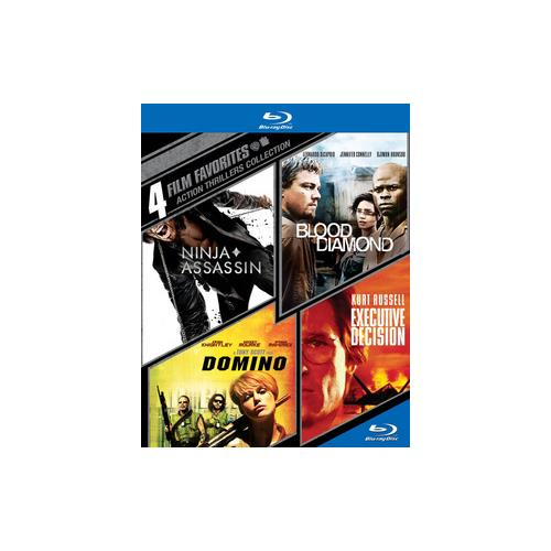 4 FILM FAVORITES-ACTION THRILLERS (BLU-RAY/4 DISC) 883929363148