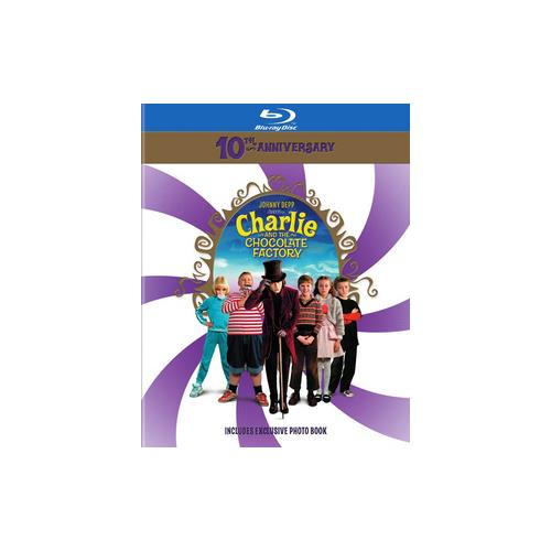 CHARLIE & THE CHOCOLATE FACTORY-10TH ANNIVERSARY (BLU-RAY/BOOK) 883929448517