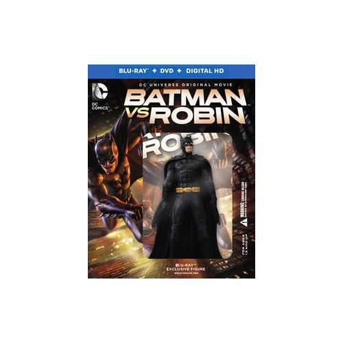 BATMAN VS ROBIN (BLU-RAY/DVD/DIGITAL HD/DELUXE GIFTSET/W-FIGURE/2 DISC/DC) 883929467662