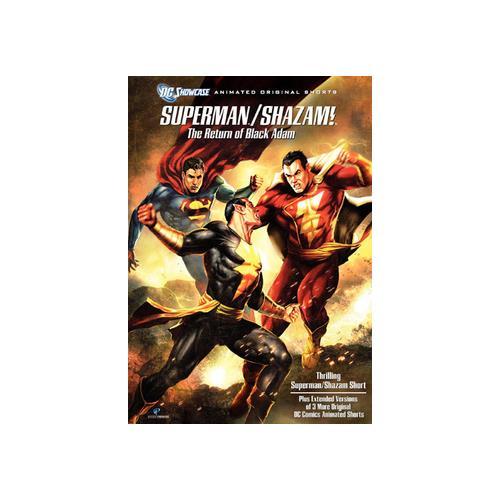 DC SHOWCASE-SUPERMAN/SHAZAM-REUTN OF THE BLACK ADAM (DVD) 883929104451