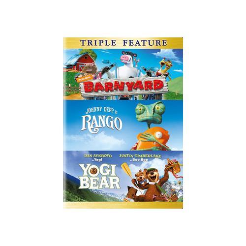 BARNYARD/RANGO/YOGI BEAR (DVD/TFE/4 DISC) 883929400461