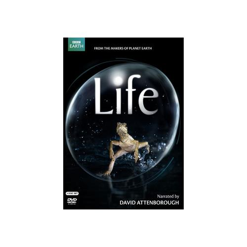 LIFE (NARRATED BY DAVID ATTENBOROUGH) DVD (4 DISC/ENG-SP-FR SUB) 883929099115