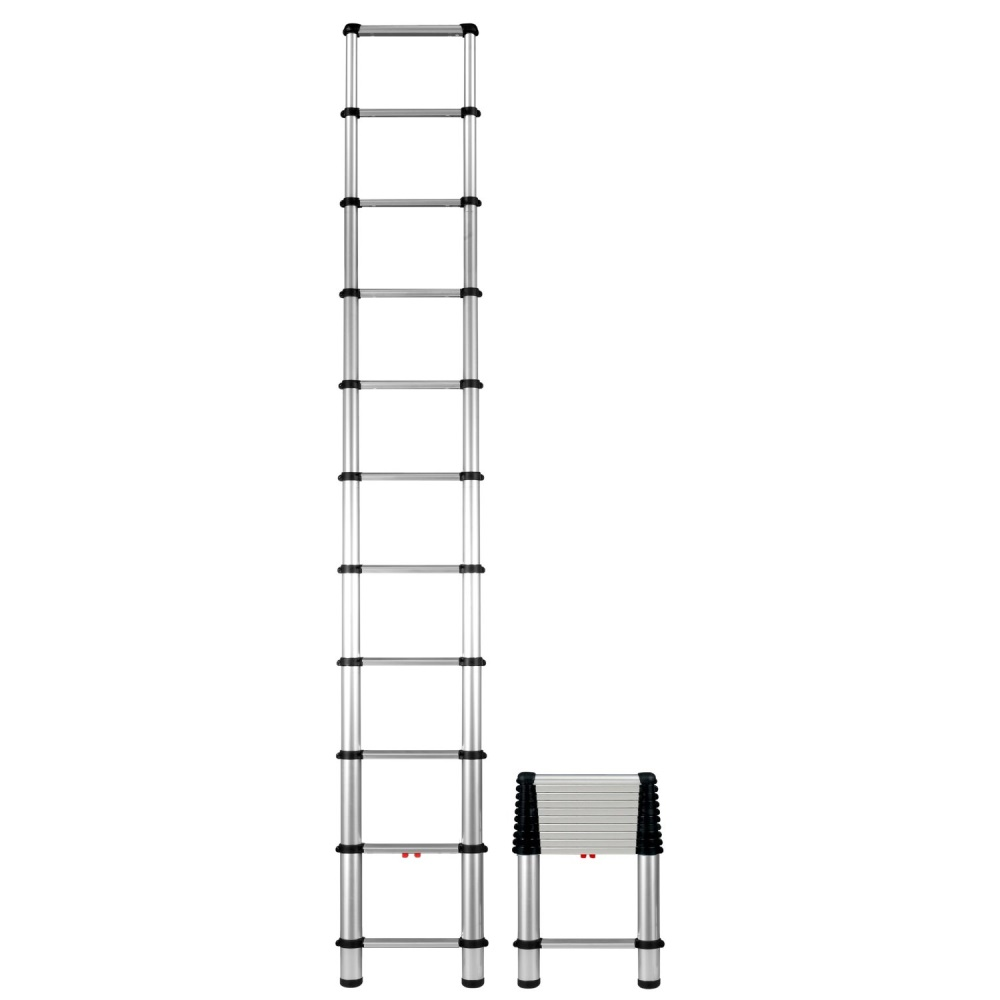 14 Aluminum Extension Ladder : E telesteps foot telescopic extension ladder ebay