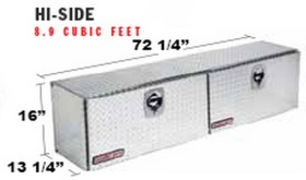 372 5 02 Weather Guard Aluminum Hi Side Truck Tool Box