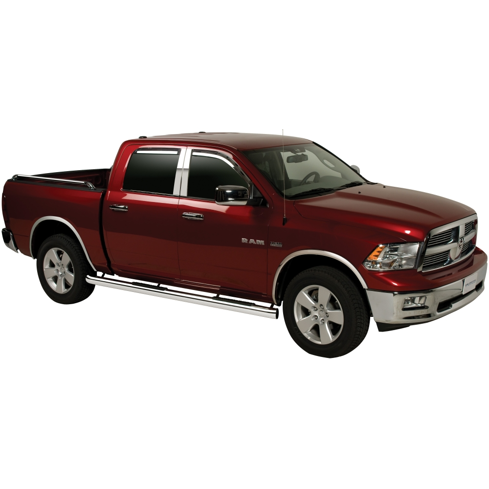 2010 Dodge Ram 2500 Regular Cab Exterior: 402522 Putco 4pc Chrome Pillar Posts Dodge Ram Crew Quad
