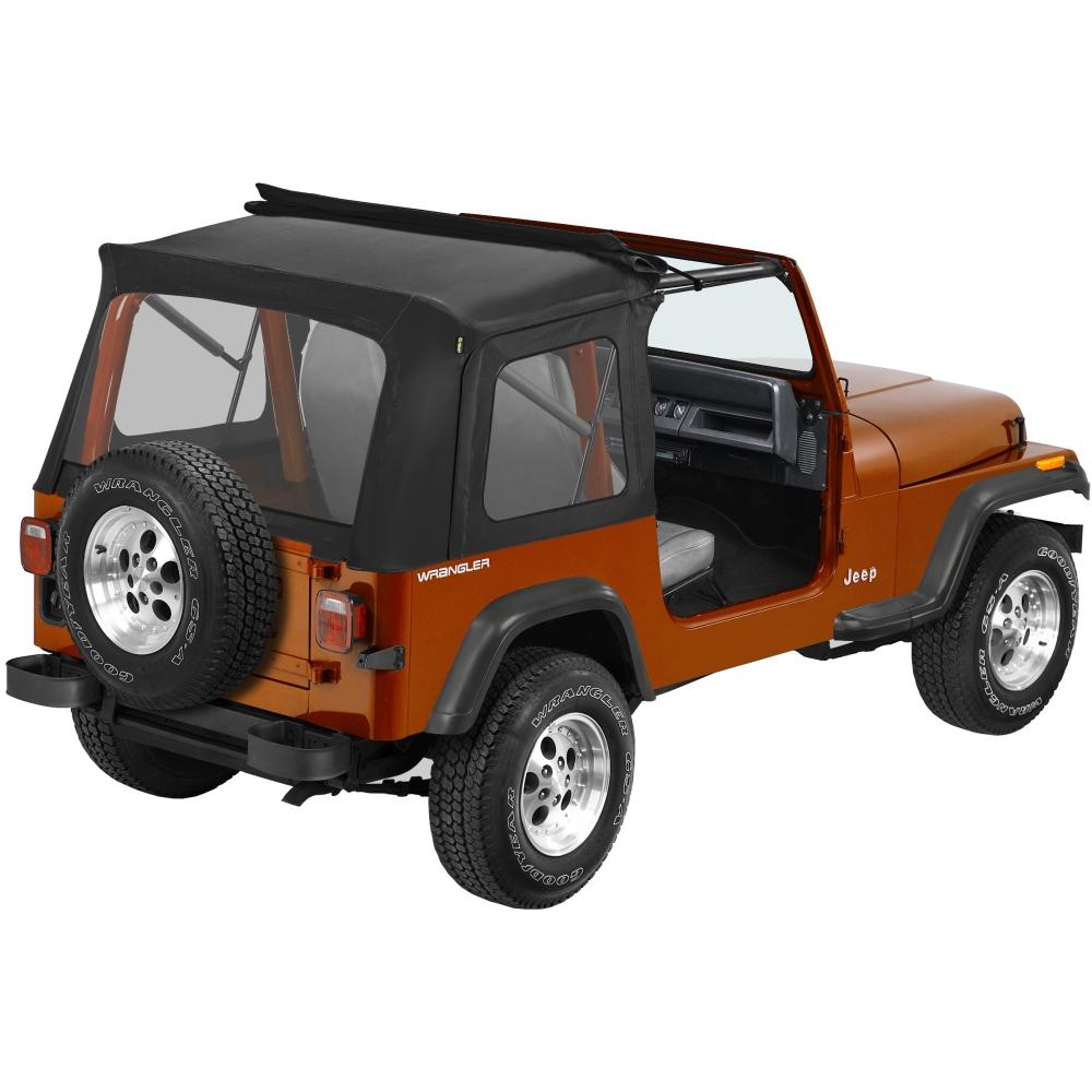 51698 15 bestop sunrider complete soft top black for jeep. Black Bedroom Furniture Sets. Home Design Ideas